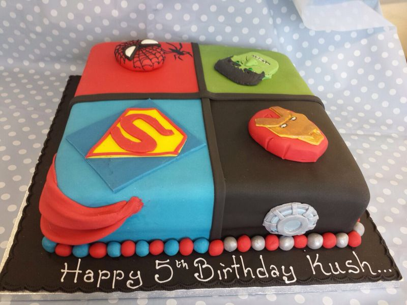 Marvel Super Hero Cake Ravens Bakery Of Essex Ltd