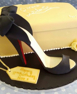 Christian Louboutin shoe & box cake