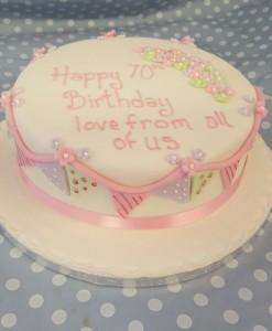bunting cake 2
