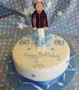 skiing figure cake