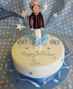 skiing figure cake