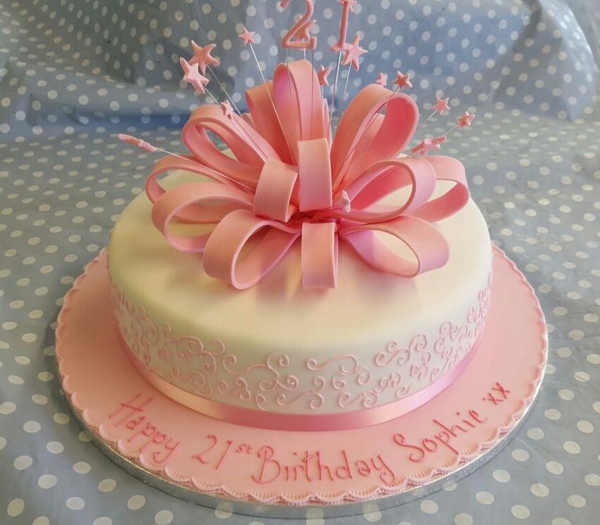 Star Bow Explosion Cake Ravens Bakery Of Essex Ltd