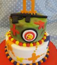 paintball theme cake