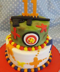 paintball theme cake