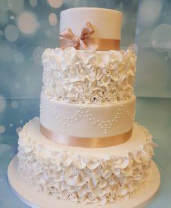 4 tire wedding cake