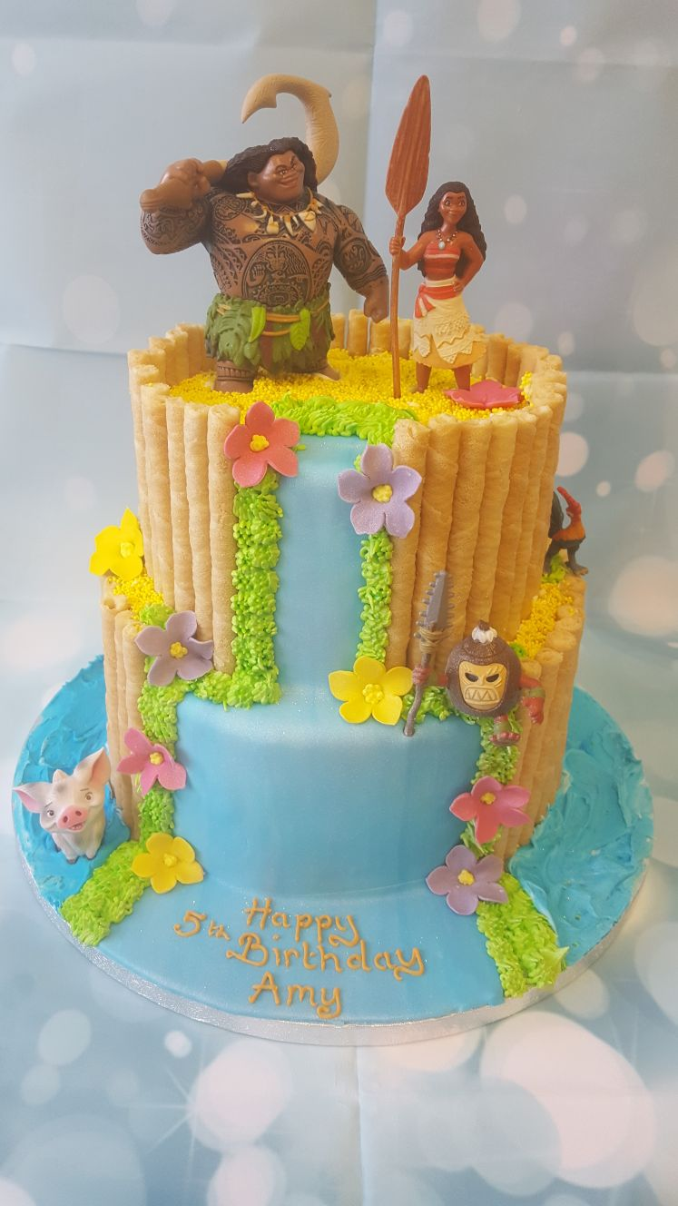 2 Tier Moana Theme Cake