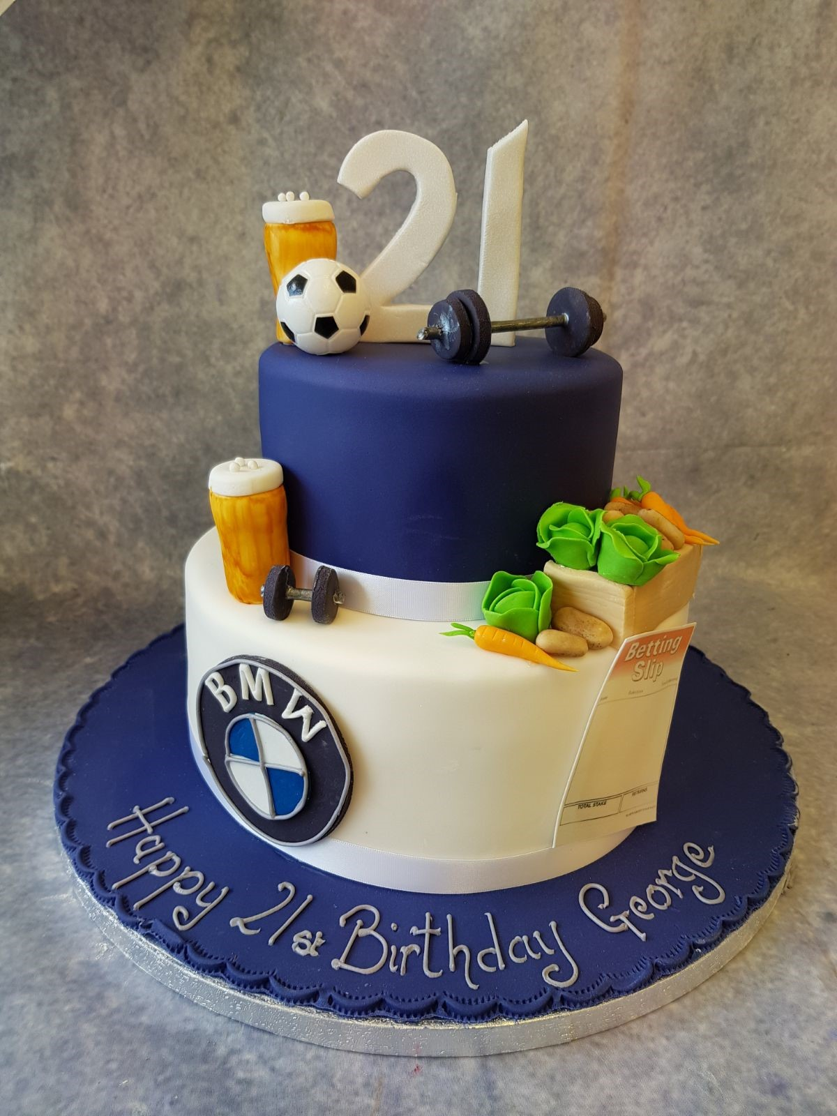 2 Tier 21st Birthday Ravens Bakery Of Essex Ltd