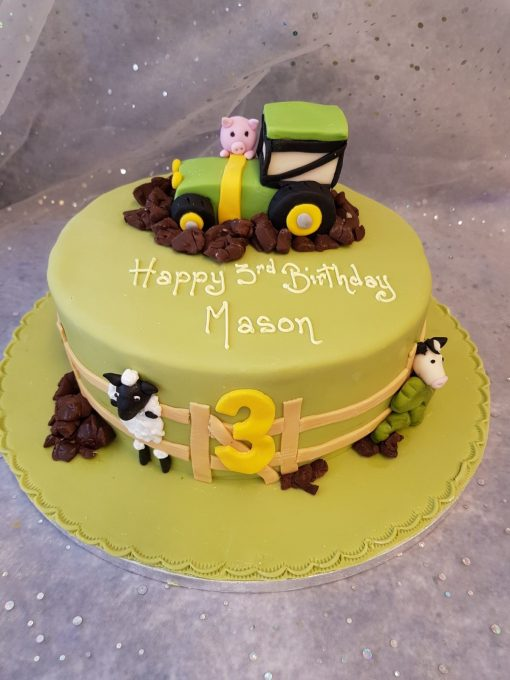 animals and tractor
