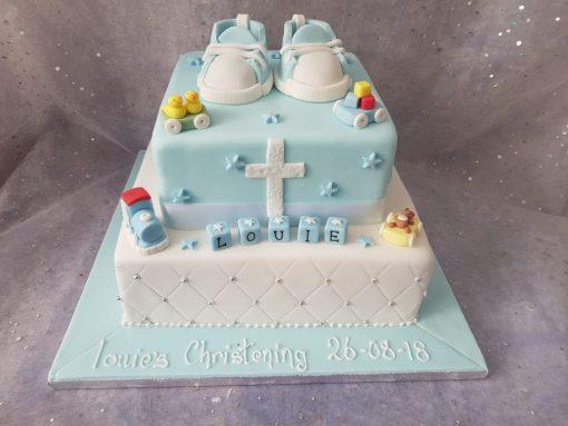 christening cake 2 tiwer