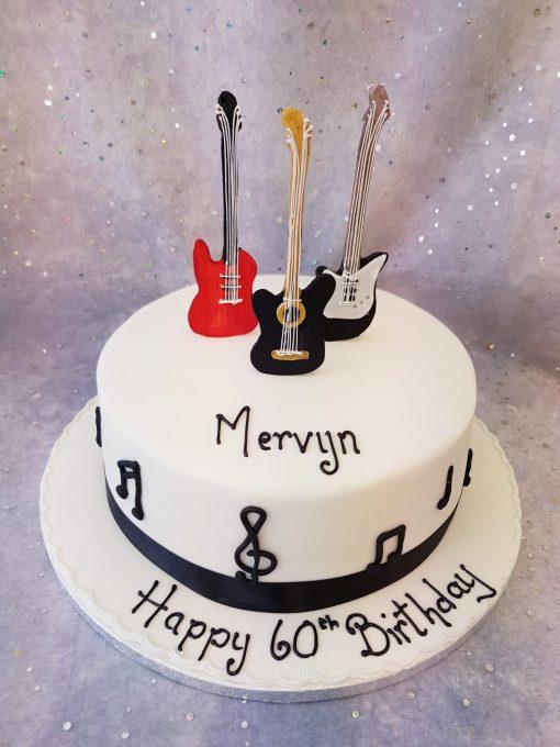 guitars cake