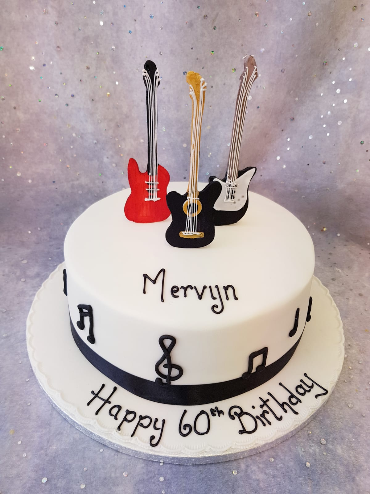 Guitar Theme Cake Ravens Bakery Of Essex Ltd