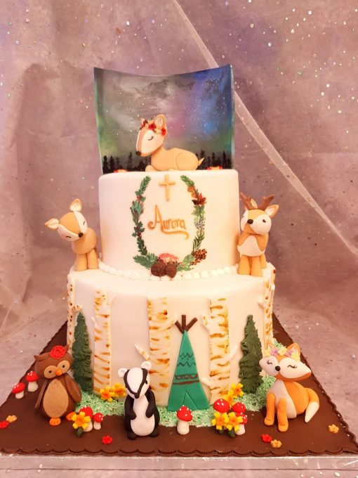 christening cake 2 tier