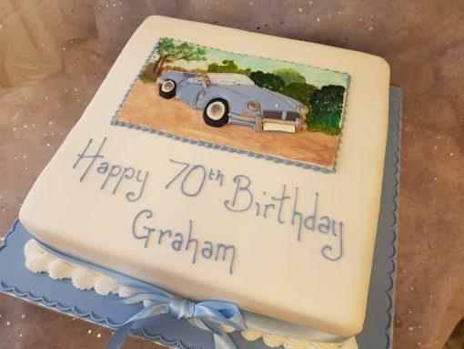 2d car cake