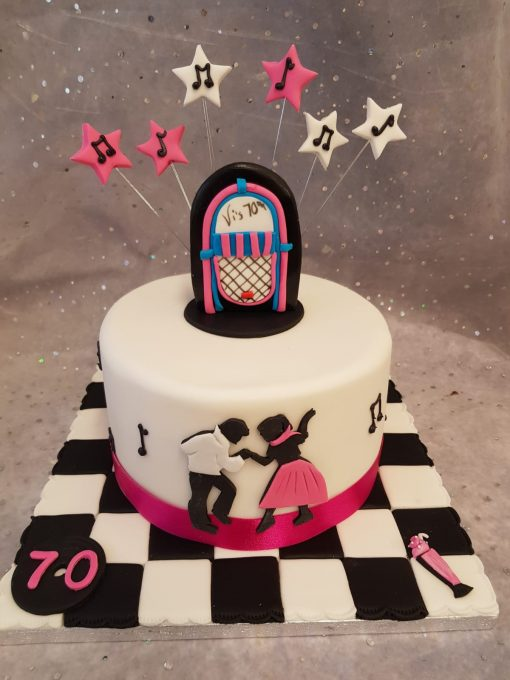 70s disco cake