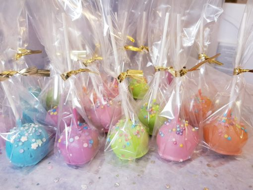 coloured cake pops