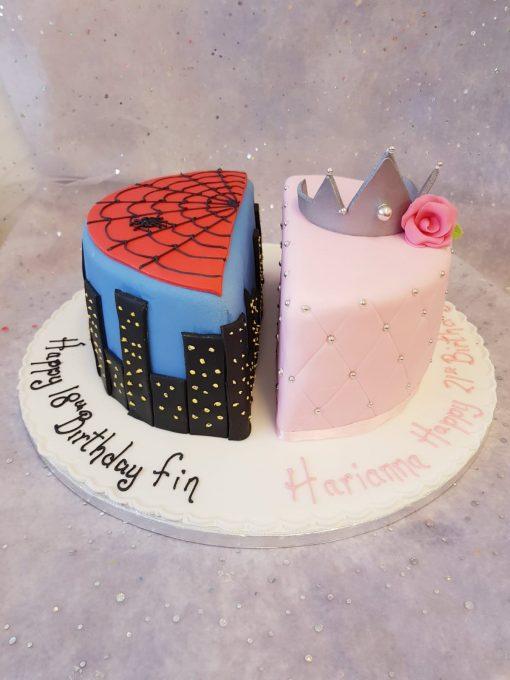 split desgin cake