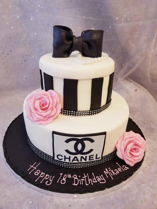 2 tier chenel cake