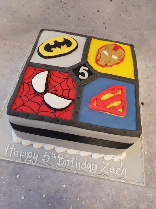 marvel theme cake