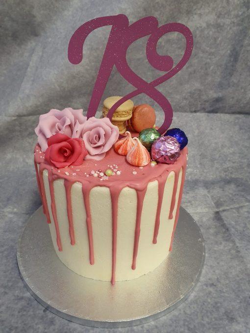 18 topper drip cake