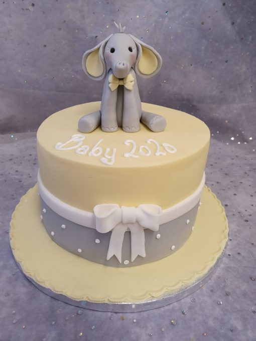elephant baby shower & bow