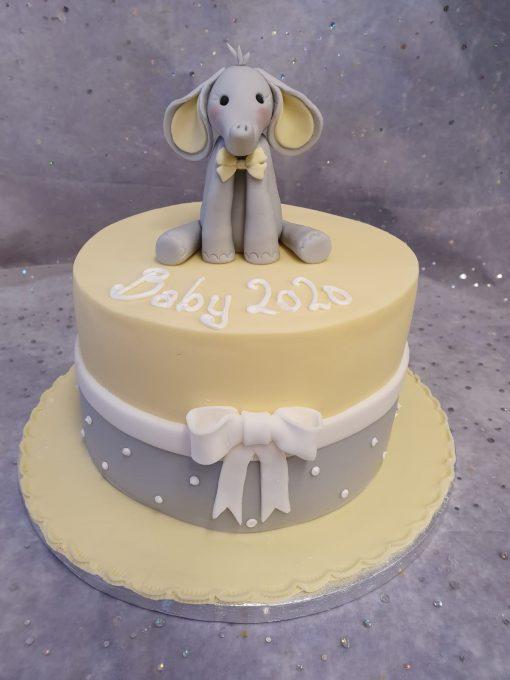 elephant baby shower & bow