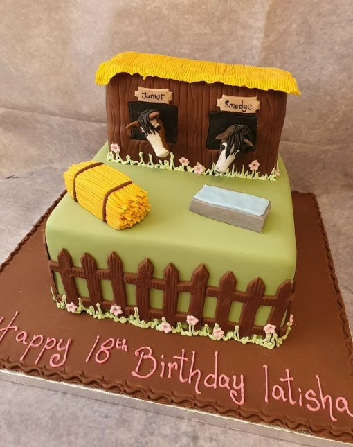 horse theme cake