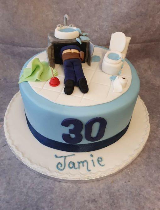 plumbing cake