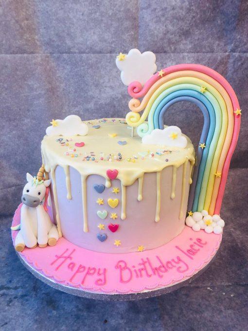 rainbow unicorn cakk